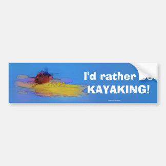 Pegatina Para Coche Cielo conmovedor   -   Kayaker