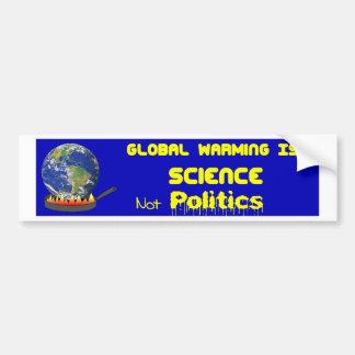Pegatina Para Coche Ciencia del calentamiento del planeta