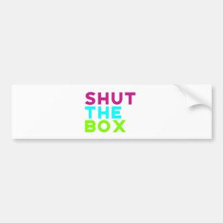 Pegatina Para Coche Cierre el logotipo de la caja