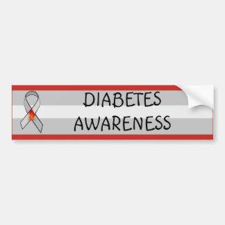 Pegatina Para Coche Cinta roja y gris de la conciencia de la diabetes