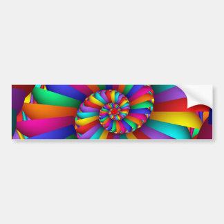 Pegatina Para Coche Cisoide de arte fino abstracto del fractal de
