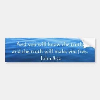 Pegatina Para Coche Cita cristiana inspirada - 8:32 de Juan