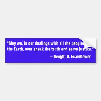 Pegatina Para Coche Cita de Eisenhower en el discurso de la verdad
