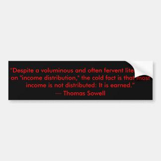 Pegatina Para Coche Cita de la redistribución de renta