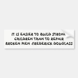 Pegatina Para Coche Cita fuerte de Douglass de los niños de la