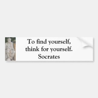 Pegatina Para Coche Cita inspirada de Sócrates