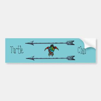 Pegatina Para Coche Clan de la tortuga de las tribus del nativo