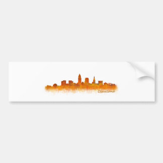 Pegatina Para Coche cleveland Ohio USA Skyline city v02