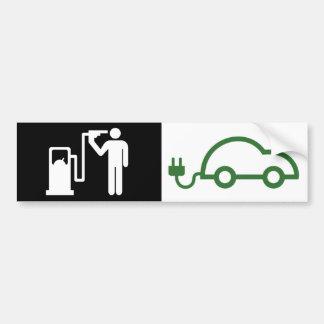 Pegatina Para Coche Coche verde eléctrico del icono del kamikaze del