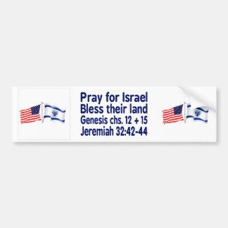 Pegatina Para Coche Colección de la bandera israelí y americana