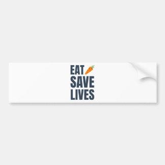 Pegatina Para Coche Coma al vegano - vidas de la reserva