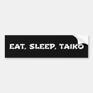 Pegatina Para Coche Coma, duerma, Taiko