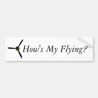 Pegatina Para Coche ¿Cómo está mi vuelo?