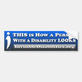 Pegatina Para Coche Cómo una incapacidad de la persona w/a MIRA -