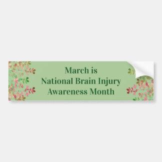 Pegatina Para Coche Conciencia de la lesión cerebral del verde del