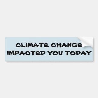 Pegatina Para Coche Conciencia del cambio de clima