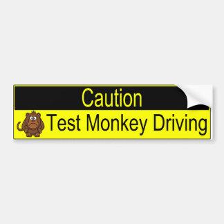 Pegatina Para Coche Conducción del mono de la prueba de la precaución