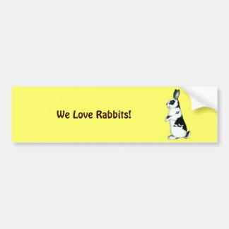 Pegatina Para Coche Conejo:  Blanco y negro