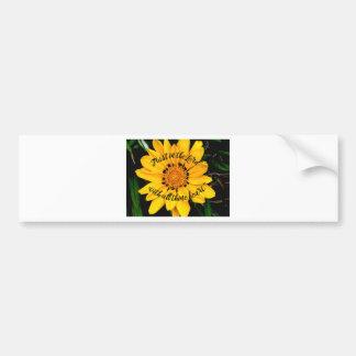 Pegatina Para Coche Confianza en el señor Bright Yellow Flower