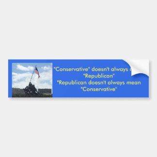 Pegatina Para Coche Conservador o republicano