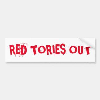 Pegatina Para Coche Conservadores rojos hacia fuera