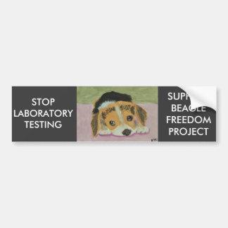 Pegatina Para Coche Contra los ensayos con animales Bumpersticker