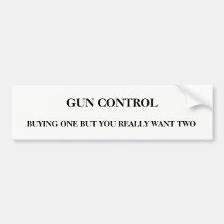 Pegatina Para Coche Control de armas