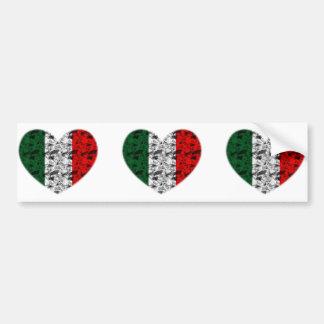 Pegatina Para Coche Corazón de Italia