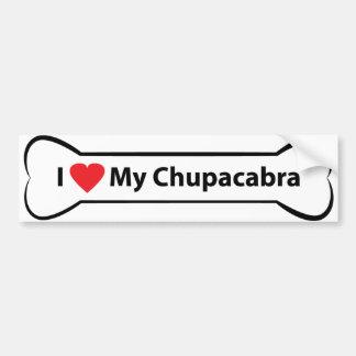 Pegatina Para Coche Corazón I mi Chupacabra