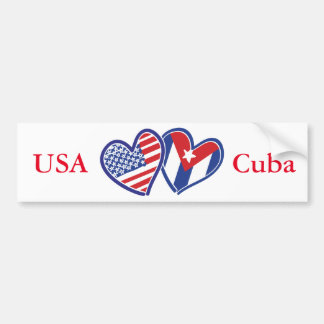 Pegatina Para Coche Corazones del amor de los E.E.U.U. Cuba