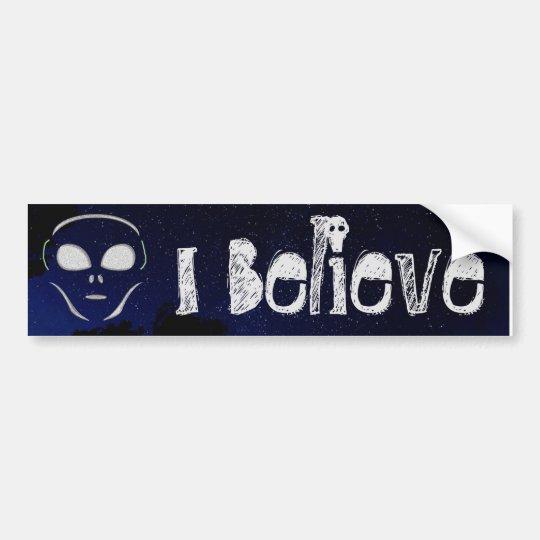 Pegatina Para Coche Creo el parachoque extranjero del planeta del UFO