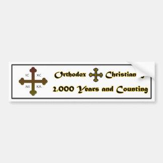 Pegatina Para Coche Cristianismo ortodoxo 2.000 años y cuenta