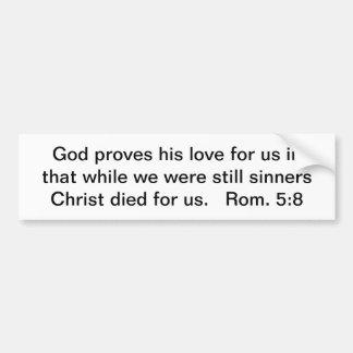 Pegatina Para Coche Cristo murió por nosotros