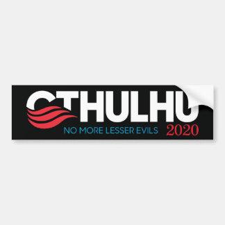 Pegatina Para Coche Cthulhu para el presidente 2020 más pocos males