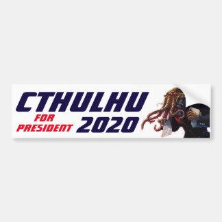 "Pegatina Para Coche ""Cthulhu para el presidente 20XX """