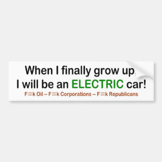 Pegatina Para Coche ¡Cuando crezco seré un coche eléctrico!