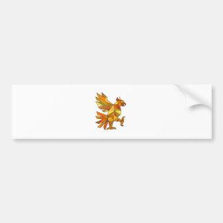 Pegatina Para Coche Cuauhtli Glifo Eagle que lucha el polígono bajo de