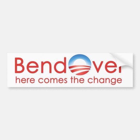 Pegatina Para Coche Curva encima para el nobama del cambio de Barack