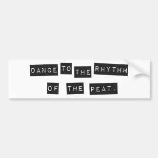 Pegatina Para Coche Danza al ritmo de la turba