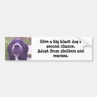 Pegatina Para Coche Dé a perro negro grande una segunda oportunidad…