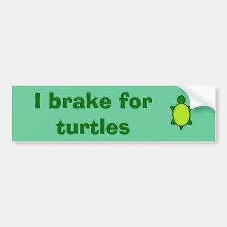 Pegatina Para Coche ¡Dé a tortugas un freno!