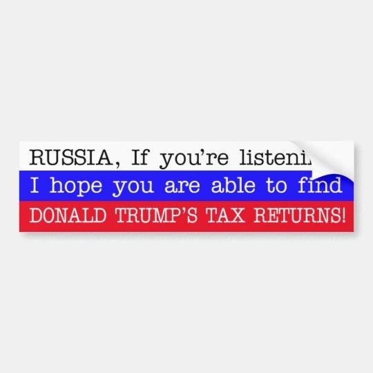 Pegatina Para Coche Declaraciones del impuestos de Donald Trump del
