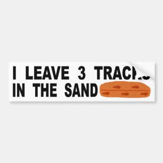 Pegatina Para Coche Dejo 3 pistas en la arena