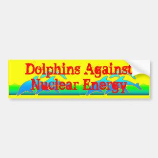 Pegatina Para Coche Delfínes contra Anti-Arma nuclear de la energía