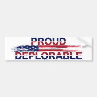 Pegatina Para Coche Deplorable orgulloso
