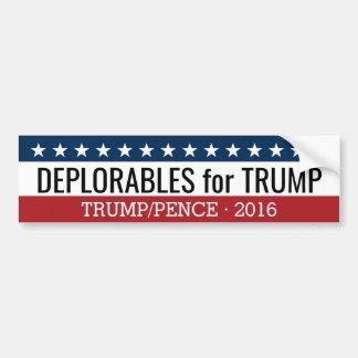 Pegatina Para Coche Deplorables para los peniques de Donald Trump Mike
