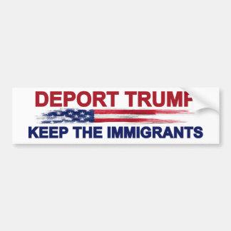 Pegatina Para Coche Deporte el triunfo guardan a los inmigrantes