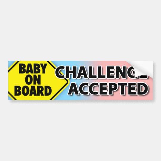Pegatina Para Coche Desafío 006 del bebé