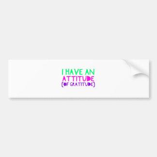 Pegatina Para Coche Detox AA de la recuperación de la gratitud de la