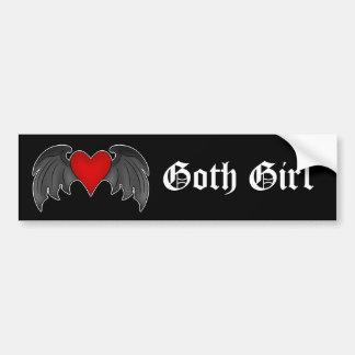 Pegatina Para Coche Día de San Valentín con alas gótico del corazón